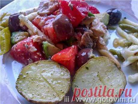 Макаронный салат с авокадо и горбушей. Фото-рецепт / Готовим.РУ
