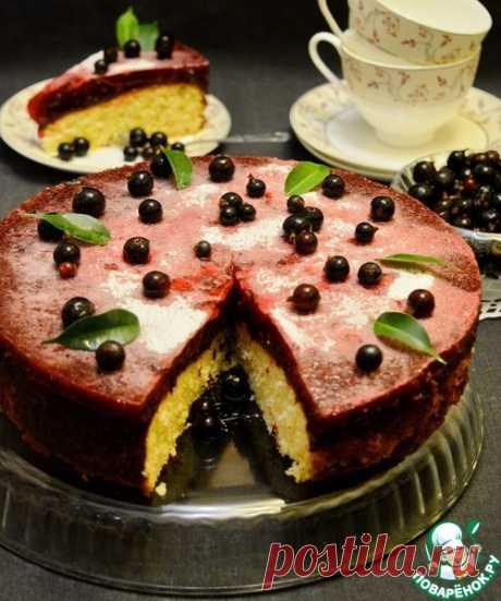 Домашний кекс с черносмородиновым желе