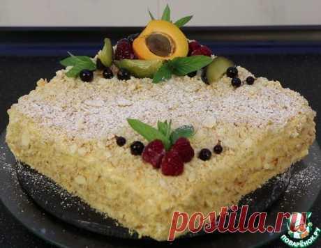 """Торт """"Наполеон"""" с кремом """"Пломбир"""" – кулинарный рецепт"""