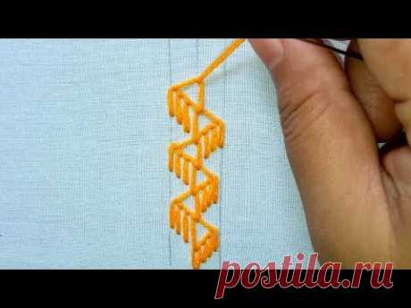 basic embroidery | hand embroidery border design # 45