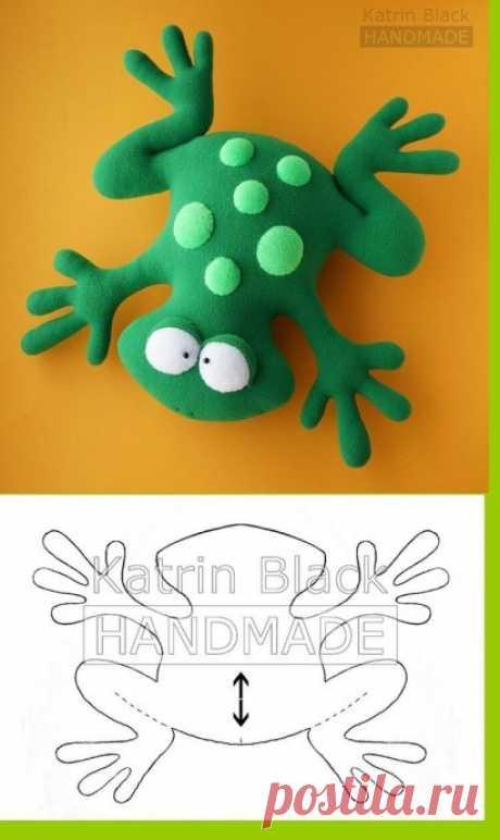 Мягкая игрушка лягушка — Поделки с детьми