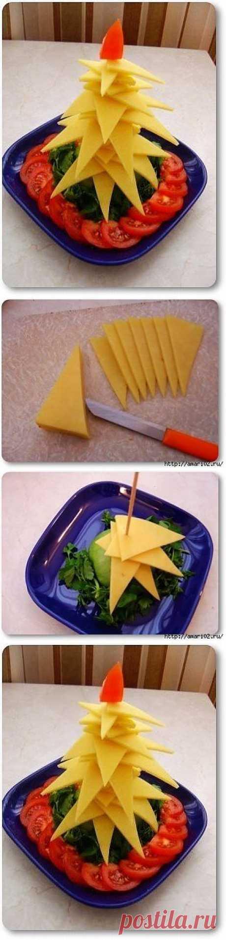 Сырная ёлочка на праздничный стол..
