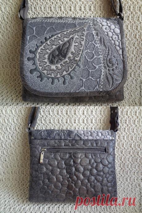 Купить Мини сумочка - маленькая сумочка, серый, стеганная сумочка, сумочка на ремешке, стежка