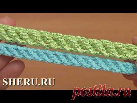 El cordón tierno gusenichka por el gancho la Lección 97 Crochet Cord How to