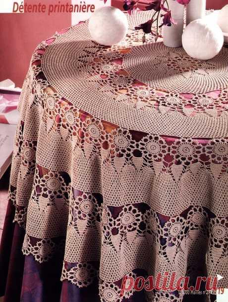 Скатерти из мотивов для круглого стола. Продолжение. | Домашние зарисовки | Яндекс Дзен