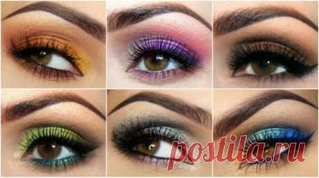 Макияж для карих глаз. Как сделать макияж в домашних условиях