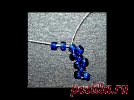 Peyote  Stitch Beading Picture Tutorial for begginers/ Мозаичное Плетение Бисером для начинающих