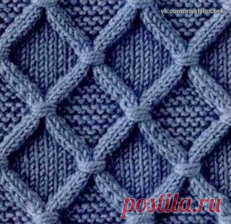 """Pattern spokes """"Араны with intertwined петлями""""\u000d\u000a\u000d\u000a\u000d\u000aThe quantity of loops is multiple 14 + 2 Krom. Rapport of a pattern of 14 items. To repeat with 3 on 22 rows."""