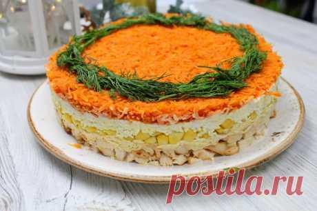 Очень яркий и вкусный салат — Кулинарная книга