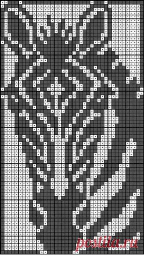 monochrome embroidery. Schemes for an embroidery.