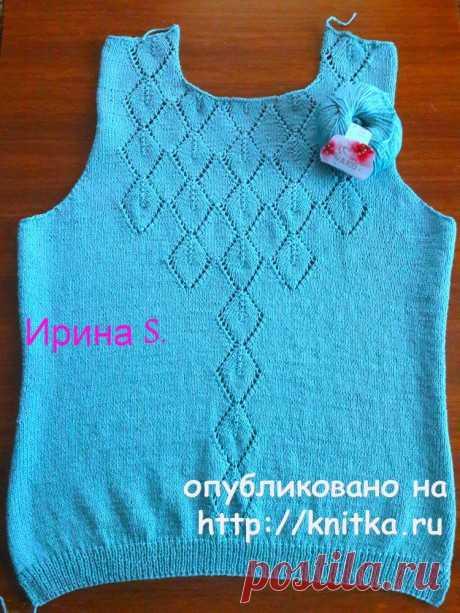 Женский пуловер спицами. Работа Ирины Стильник, Вязание для женщин