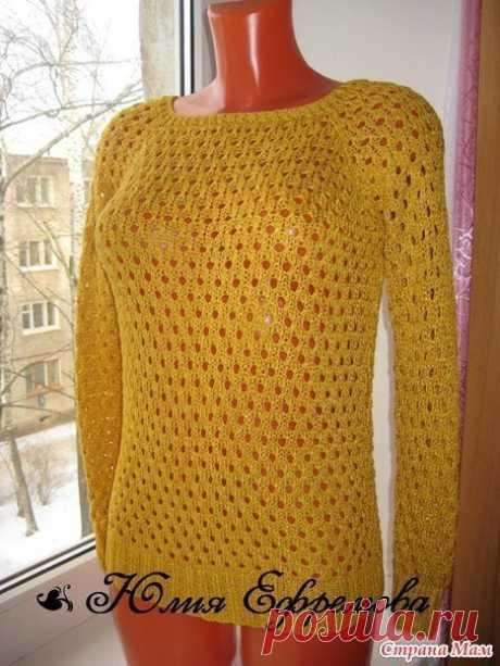 Сетчатый пуловер Варианты узоров крючком и спицами #крючок #спицы #вязаный_пуловер