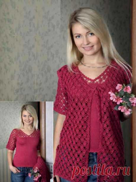 Вяжем женственную двойку спицами: пуловер и жилетка из категории Интересные идеи – Вязаные идеи, идеи для вязания