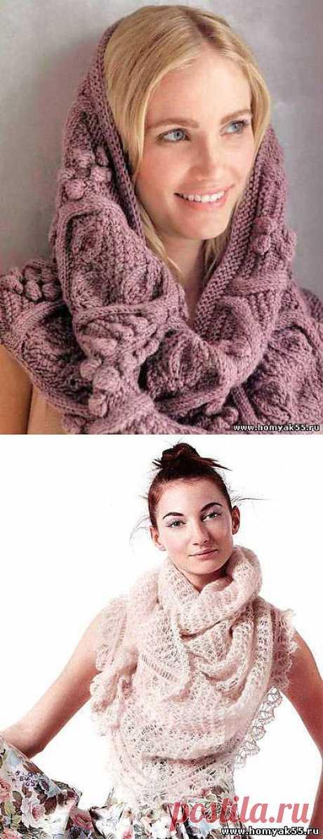 Снуды и шарфы. Несколько удачных моделей.