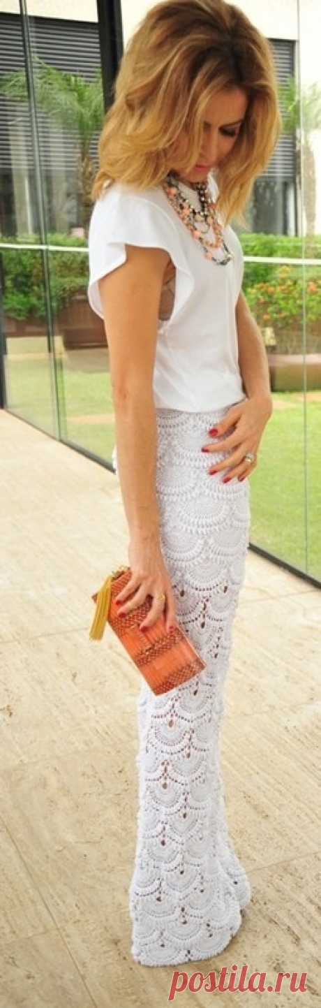 Юбка крючком по мотивам Джованны Диас. Красивые стильные юбки крючком со схемами. | Я Хозяйка