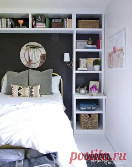 Рациональное размещение вещей в небольшой спальне | Мой дом