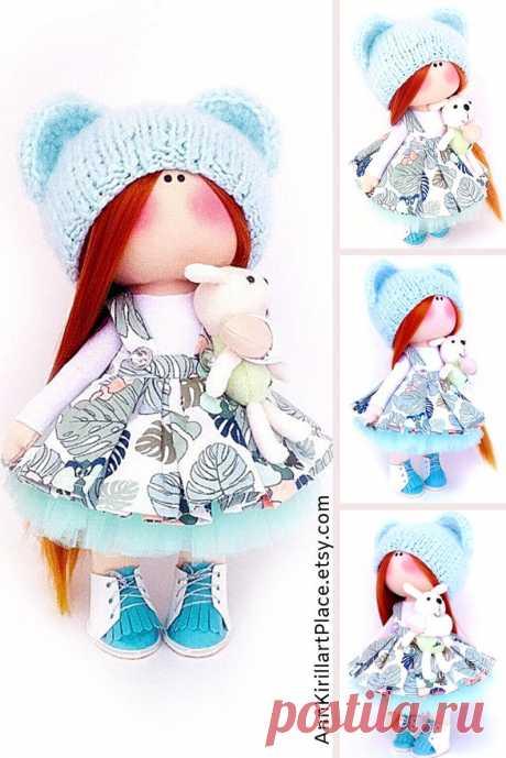 Tilda Interior Doll Nursery Decor Doll Fabric Art Doll | Etsy