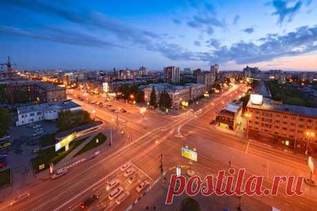 Красный проспект.Самая длинная улица Новосибирска.