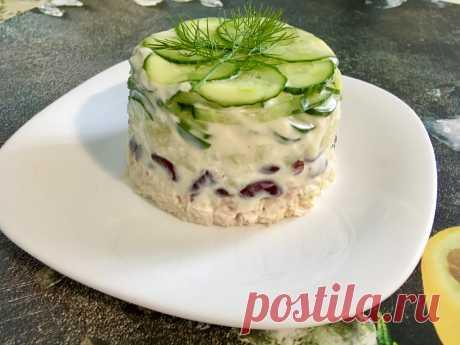 Простой белковый салат с минимумом жиров. Идеально для моего ужина | ХУДЕЕМ ВКУСНО! | Яндекс Дзен