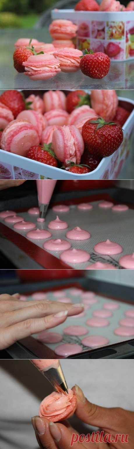 """Как приготовить блюдо """"клубничные макарон"""" - рецепт, ингридиенты и фотографии   sloosh"""