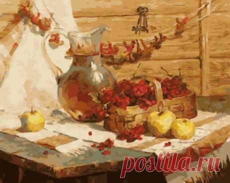 Деревенский натюрморт gx5707. Наборы для раскрашивания > Цветной > Натюрморт.