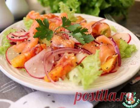 Салат с апельсином и красной рыбой – кулинарный рецепт