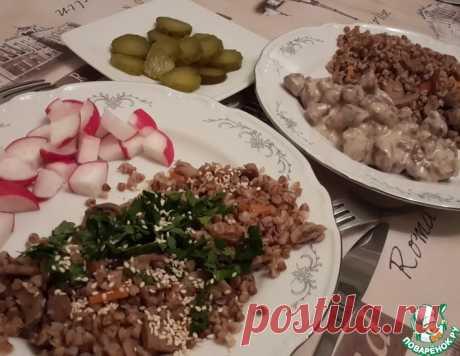 Гречка с грибами в горшочках – кулинарный рецепт