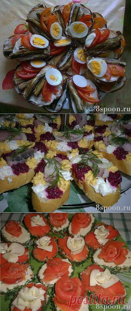 Праздничные бутерброды: много вкусных идей | Ваши любимые рецепты