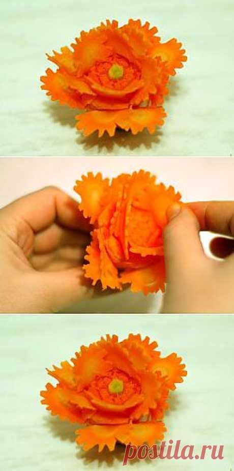 Гвоздика из моркови. Мастер-класс