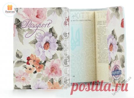 Цветы - Женская кожаная обложка на паспорт  → Купить за 199 грн. → Цена, Отзывы