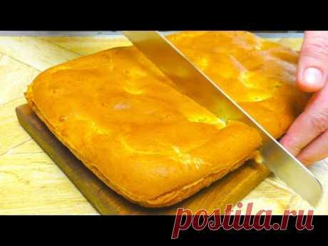 Всё как Вы любите! Заливной пирог на кефире с капустой. Простой, быстрый и вкусный рецепт.