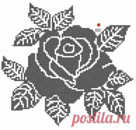 Идеи для вязаных салфеток в виде роз