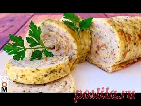Куриный Рулет с Сыром | Очень Сытно и Просто и Вся Семья Накормлена