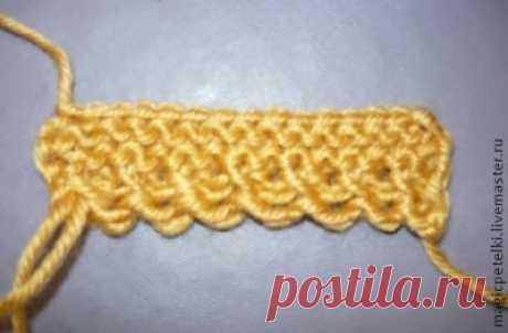 МК: Декоративный набор петель, вязание спицами