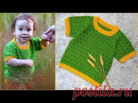 Детская футболка крючком | Футболка крючком для мальчика или девочки