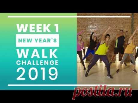 New Year's Walk Challenge 2019 - Week 1 | Walk at Home