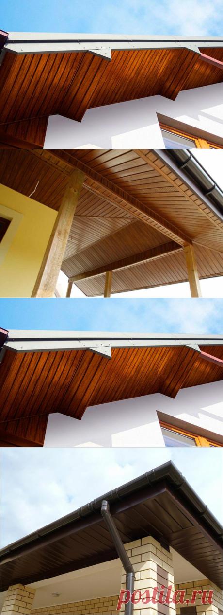 Как подшить свесы крыши — Наши дома