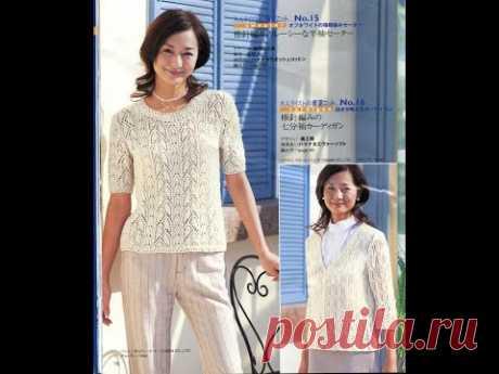 Летняя японская блуза красивейшим узором