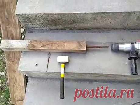 Самодельный вибратор для бетона за пять минут.