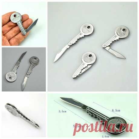 Полезные Ключевые Shaped Карманные Складной Нож Мини Утилита Открытый Туризм 3.5 см Лезвия купить на AliExpress