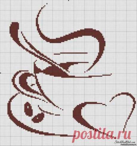 «Кофе - контурные, монохром - схема» — карточка пользователя Dezirinka в Яндекс.Коллекциях