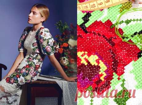 Модная вышивка – Мода – Домашний Хватит вышивать в стол, вернее салфетки на стол. В этом  сезоне самое модное украшение одежды - вышивка!