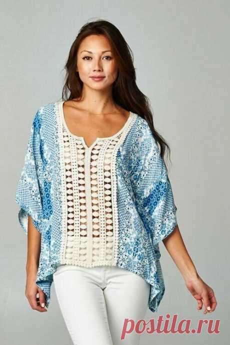 Увеличиваем размер блузки/кофточки при помощи вязания. | MuMof2 | Яндекс Дзен
