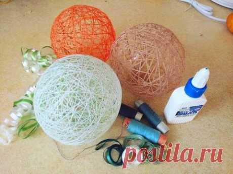 Как сделать шар из ниток