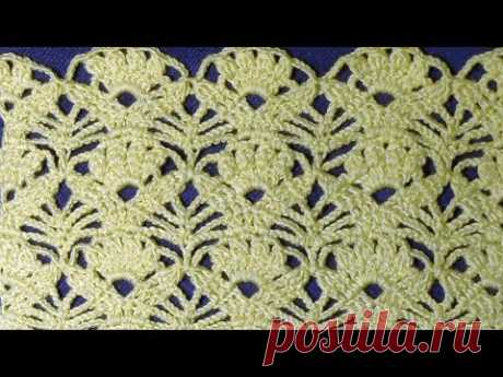 Ажурный узор для жакета, пуловера, платья крючком. Вязание по схеме