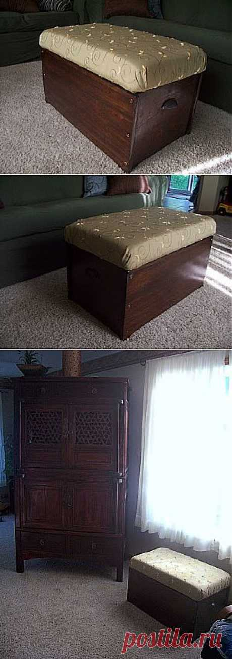 We do a padded stool chest by the hands (photo)