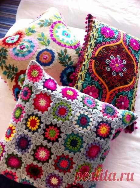 Throw pillows the hands