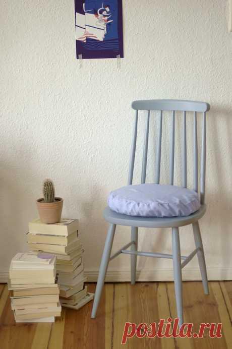 Подушка на стул из рубашки