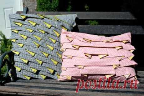 Декоративные подушки со складочками (фото-мастер-класс) — Делаем руками