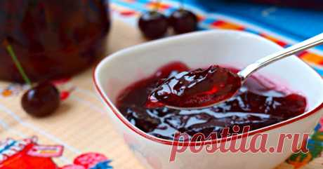 CHERRY JELLY IN BANKS  \u000a\u000aCherry jelly in banks is more, than jam. It is a ready dessert! You get a jar from the storeroom, you open, you enjoy … Moderately sweet, with characteristic sourness and almost marmalade konsistents …